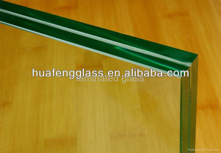 6.38-31.9mm clear and colorful laminated glass with AS/NZS 2208