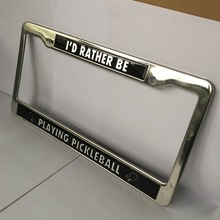 European size European style front car license plate frame License plate holder HH-licence plate-(35)