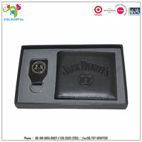 promotional gift custom wallet belt gift set