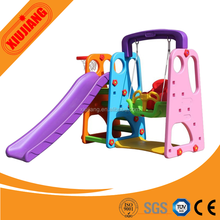 Baby play set indoor plastic slide and swing for sale