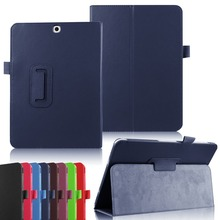 Factory Two-folding Leather Case for Samsung Galaxy Tab S2 9.7 inch T815, for Samsung Tab S2 9.7 Flip Leather Case