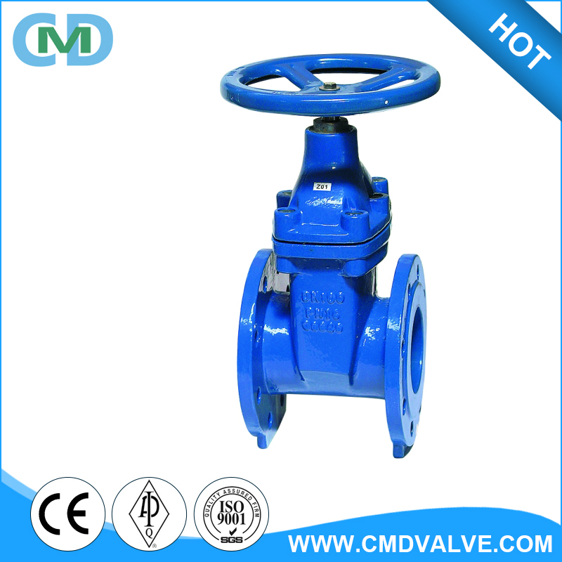 BS 5163 Cast Iron PN10 PN16 DN100 Non Rising Stem NRS Gate Valve For Water