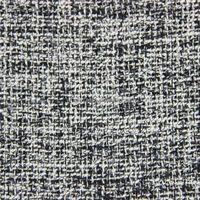 100% polyester black and white weaving fancy yarn the price of wool per meter fabric for winter coat