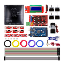 New 3D Printer DIY Kit RAMPS 1.4+Mega 2560+A4988+Motor+LCD2004+MK3 Heatbed+MK8 Kit 3D Printer Electronics Full Kit