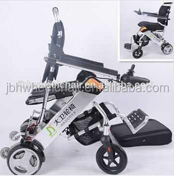 Aluminum folding power wheelchair /lightweight folding electric wheelchair/Hot sale wheelchair