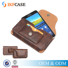 Leather Cases Pouch Holster Belt Loop Clip Magnetic Button Closure Covers For Iphone 6 plus for Samsung Galaxy Note 5 Note 4