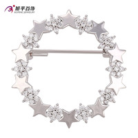00007- xuping hot sales latest fashion elegnat handmade hot shape diamond metal alloy cheap brooch hijab pins in stock