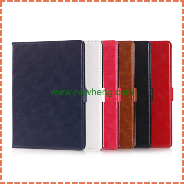 New Style Oil Wax Pattern Tablet Accessories Leather Stand Case For Ipad Mini 4