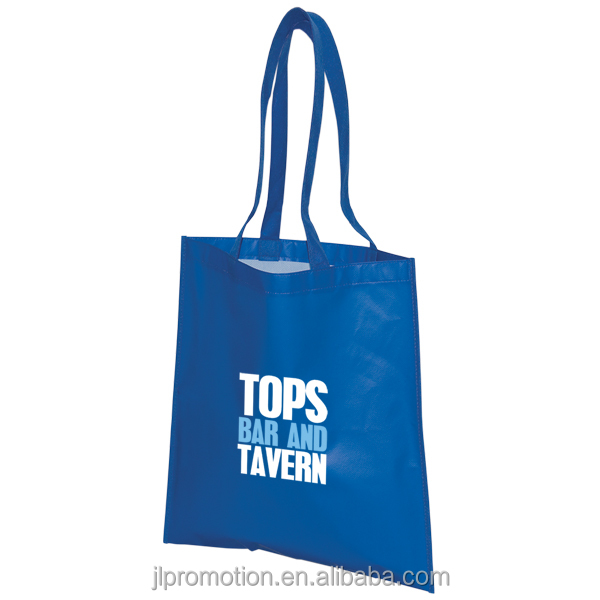 Recycled Convention 80gsm Non woven Tote Bag with X cross on the handles Tradeshow bags promotional bags