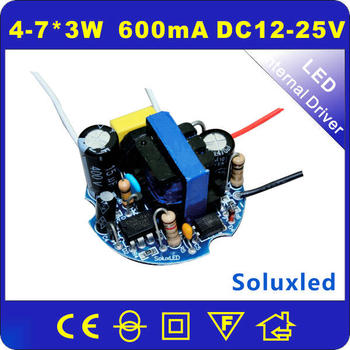 LED Driver Power supply 4-7*3W round 600mA