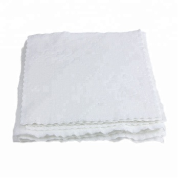 100 % cotton white jacquard luxury airline disposable ihram towel hajj