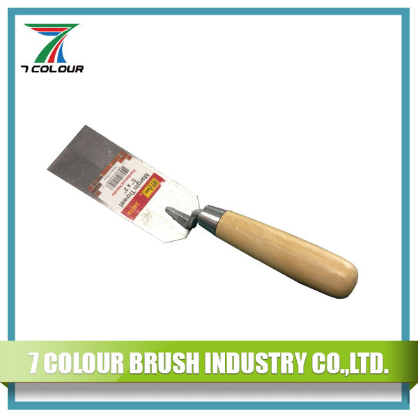 "5"" Wooden Handle Carbon Steel Margin Trowel"