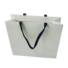 Wholesale Art Paper Luxury Large Silver Packaging Shopping Bag