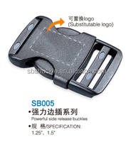 SBS side release palstic buckles for backpacks