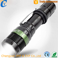 Mini Tactical Light Rotating Zoom 18650 Strong Light Flashlight Charging