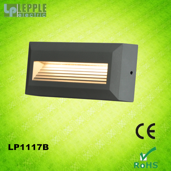 2015 new design popular yuyao aluminium exterior small step LED wall light