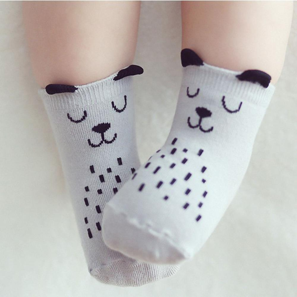 UNIKIDS Cartoon Cute Animal Dog Owl Pattern Kid Socks Cotton Anti Slip Socks For Toddler Boy Girl 0 To 4 Years
