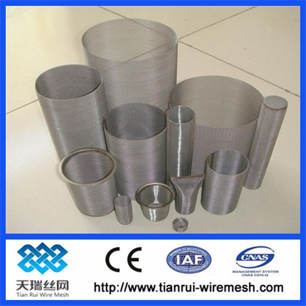 stainless steel filter screen tube/ stainless steel mesh filters