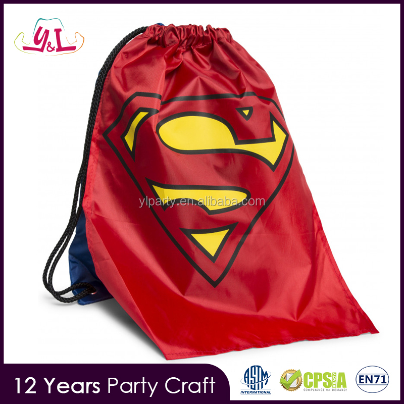 Personalized Custom Superman Cape Cinch Sack Backpack 2017