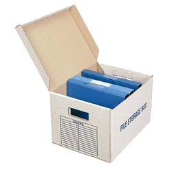 Kraft liner corrugated file storage carton box for packaging and shipping