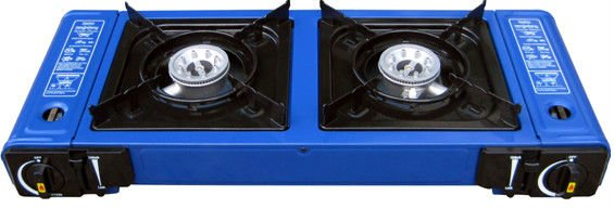 portable 2 buner gas stove burner