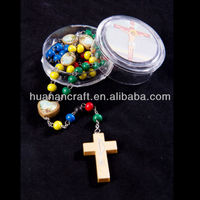 Wooden rosary colors of Faith rosary bead rosary religious christian jesus catholic accessoies wood crucifix