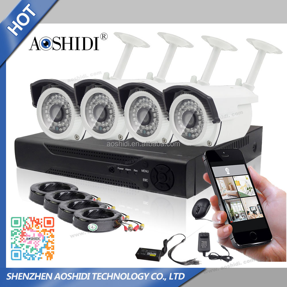 Promotion HD 720P 4CH CCTV Camera DVR Kit for Home Security System