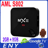 Mx3 Android Tv Box Android 4.4.2 Lollipop Tv Box Octa Core 1/8GB 4K Smart Media player