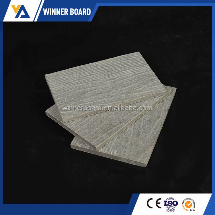Fire-proof Non-asbestos 5-22MM Wood Grained Fiber Cement Board for External Wall Bodies
