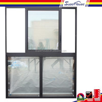 Supehouse china supplier thermal break double glass aluminum up down sliding window with Australian AS2047 standard