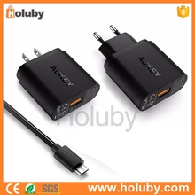 2016 New arrived AUKEY Wall Charger adapter Support Qualcomm Quick Charge 3.0 US plug AUKEY CC-T8 18W USB Wall Charger