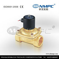 brass 1 inch or 2 inch water solenoid valves, normally open water solenoid valve