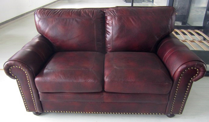 Hot -Sale 2 seat living room furniture leather sofa nice modern sofa