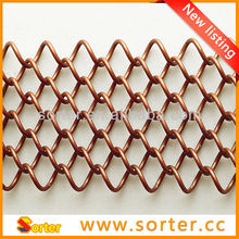 unique new metal mesh curtain window blinds pleated