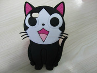 2016 Lovely cat design cheap cute animal silicone phone case/double case for mobile phones