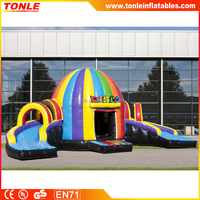 hot sale inflatable Disco dome with slide, inflatable bouncer slide combo