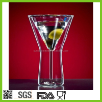 light up martini glass / martini glasses / double walled martini glasses