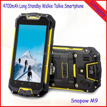"Snopow M9 4.5"" Quad Core Dual SIM Android Rugged IP68 Smart Phone with Walkie Talkie NFC GPS Good Price"