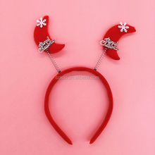 2015 new product Hot Selling Christmas antlers & Red cap head buckle Christmas headband for Christmas Party
