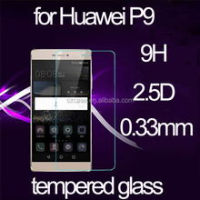 Phone Accessories 9H Tempered Glass for Huawei Honor P9 2.5D round edge Tempered Glass Screen Protector