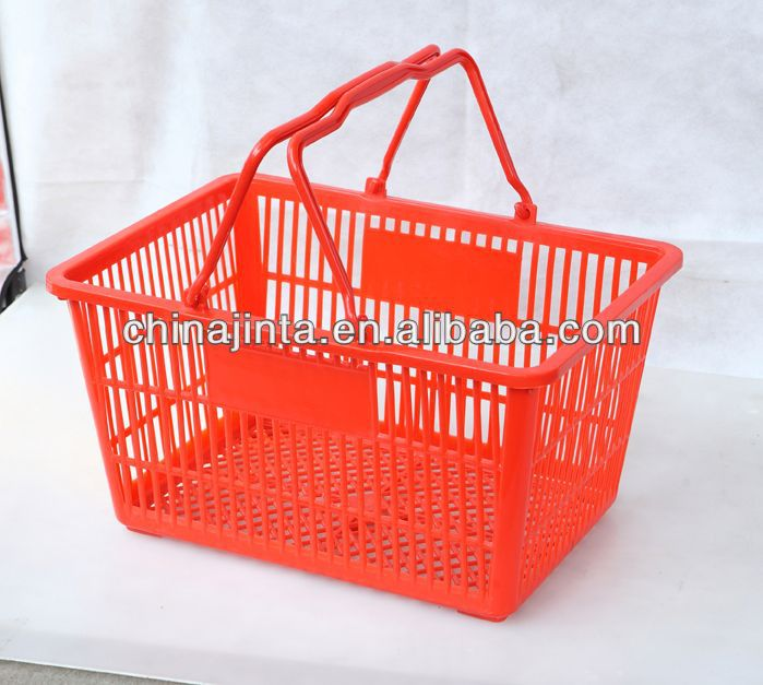 shopping flat bamboo basket