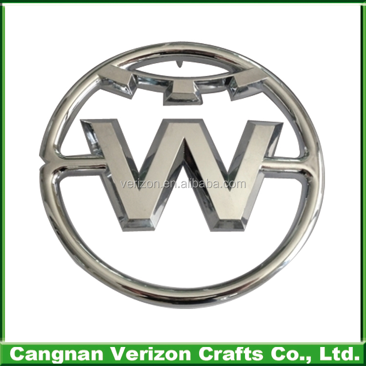 Custom chrome car emblems vw car badge emblems