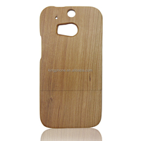 high quality two parts fine craft wooden case back cover for HTC one M8