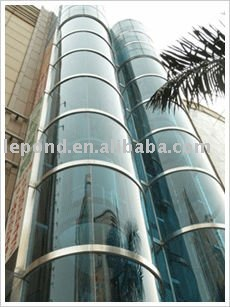 HOT! Black Toughened Elevator Lobby Backpainted Glass Panels