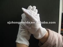 anti-static gloves with dotted coat on the palm