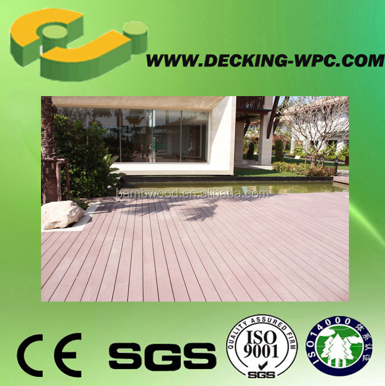 2017 Hot Sale DIY Wood Polymer Composite Decking Waterproof