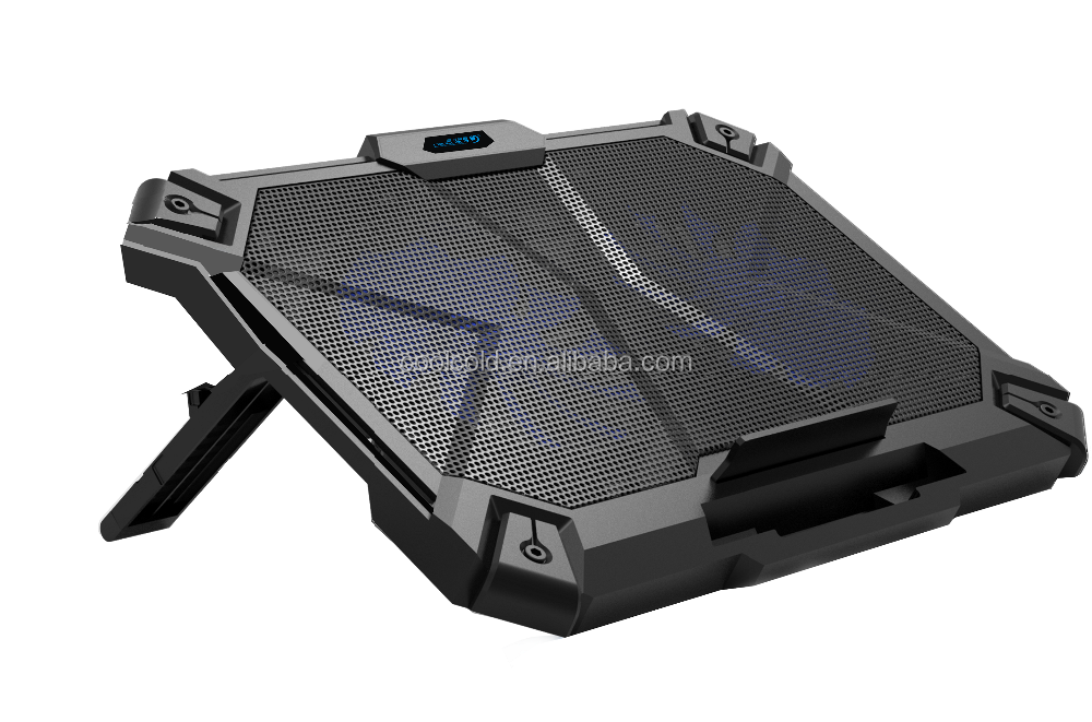 Gaming accessories laptop cooling pad,double fan laptop cooler