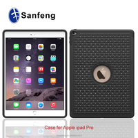 Pearls Diamonds Crystal PC Silicone Hybrid Diamond Covers Shells For Apple iPad Pro Protective Cases