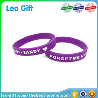 customize 0.5 inch one color printing silicone wristband manufacturer