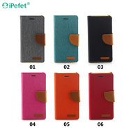 Wholesale Alibaba Card slots stand design Leather Flip Case For iphone 6/S